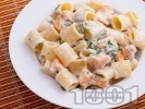 Рецепта Паста със сьомга и сметанов сос